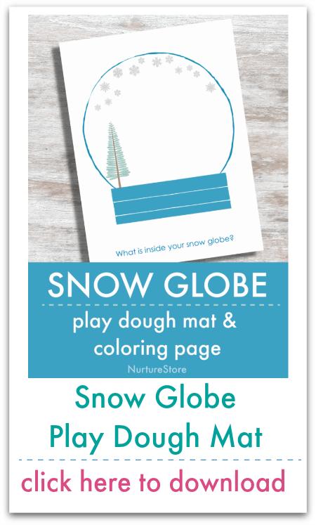 snow globe play dough mat