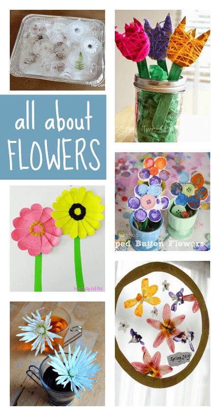 easy spring flower crafts for preschool,