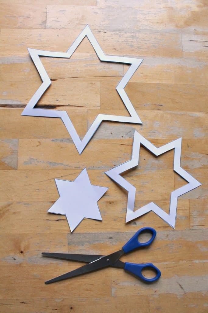 spinning star mobile craft with template nurturestore