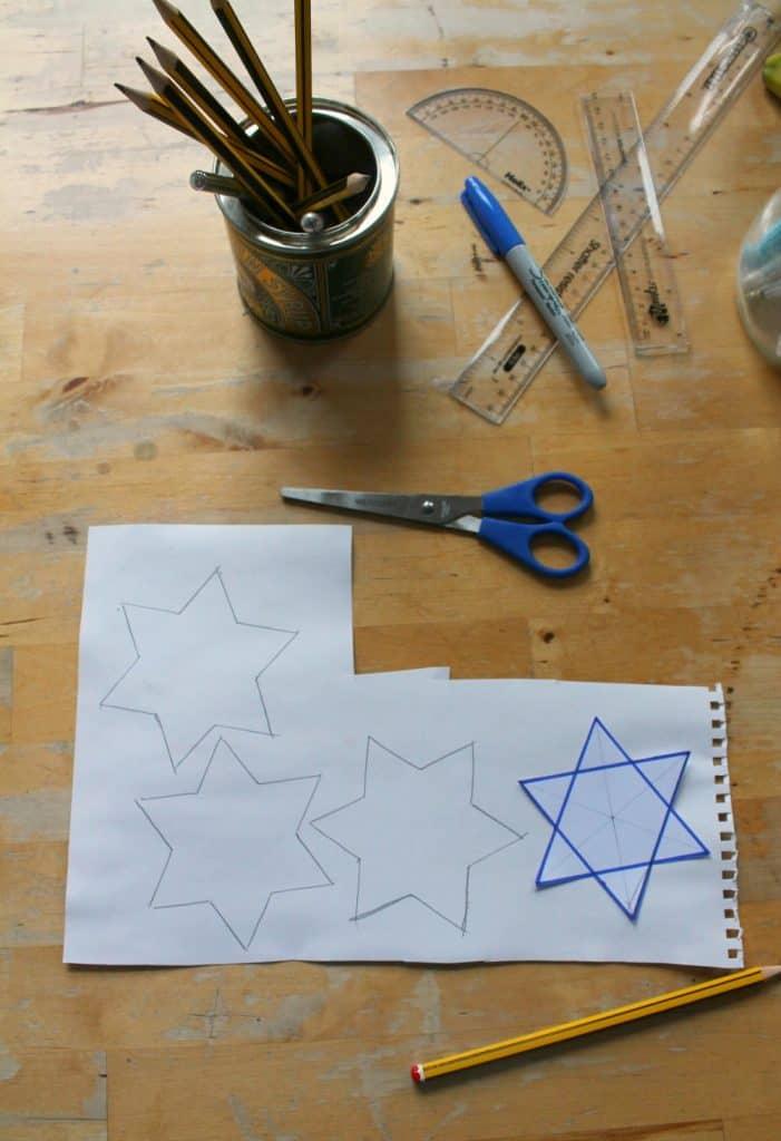 star of david craft for children