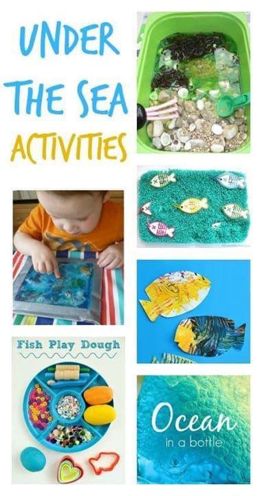 beach crafts for kids, seaside crafts for kids, seaside activities, ocean theme for preschool