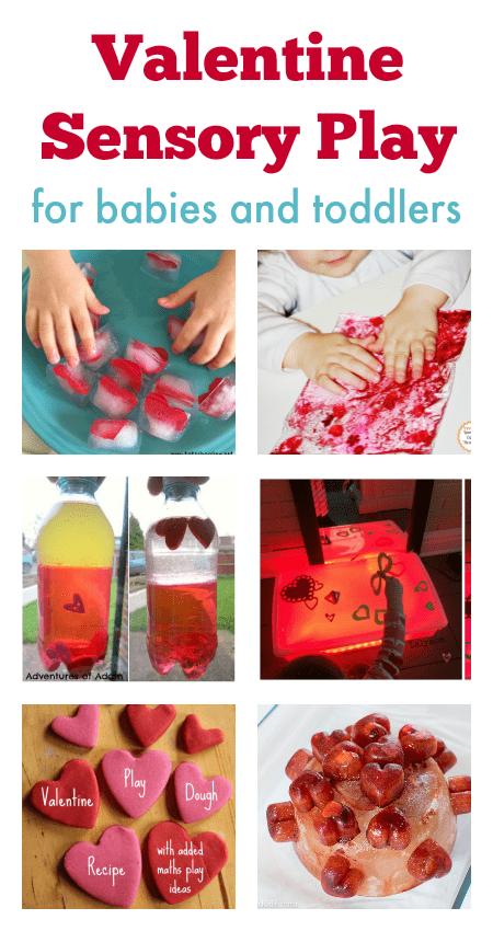 Valentine sensory play ideas for babies, fun toddler Valentine activity