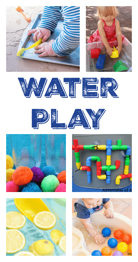 water play ideas, water tun activities, water sensory play ideas