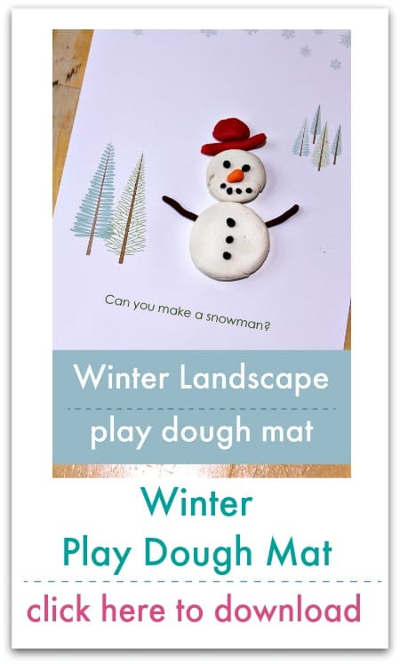 snowscape play dough mat