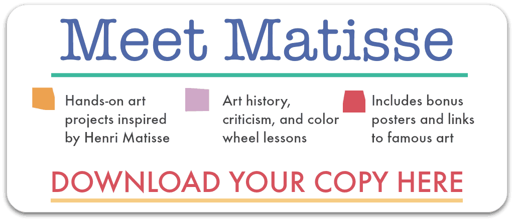 matisse art lesson plans