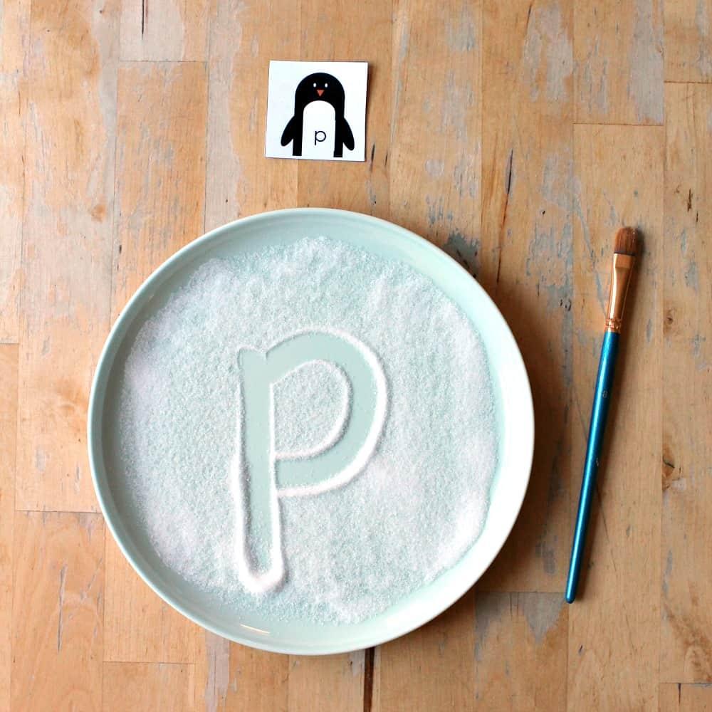 penguin letter printable sq