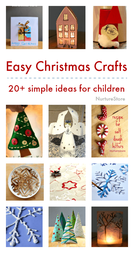 very easy christmas crafts for children to make