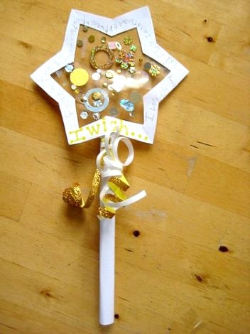 wishing wand new years craft for kids