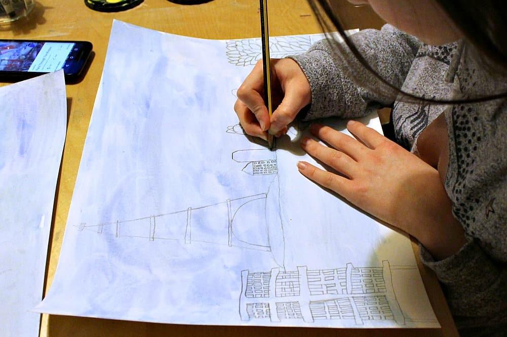 chagall art lesson for children paris