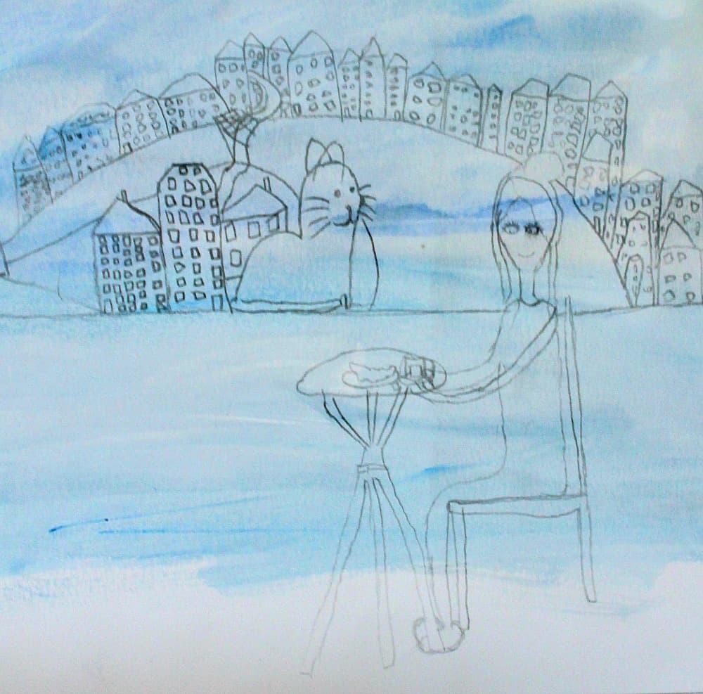 chagall paris art lesson for children
