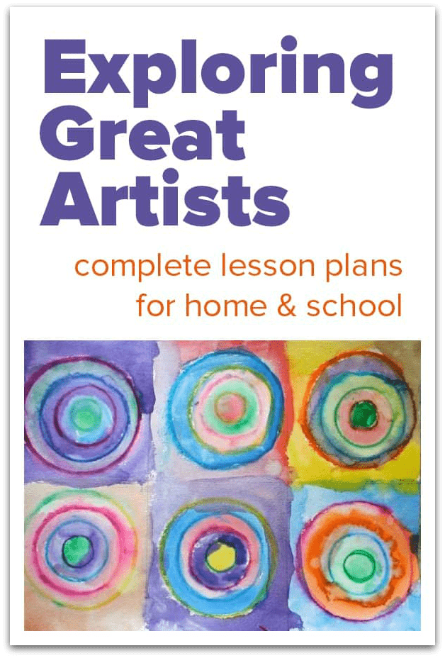 Exploring Great Artists, famous art lessons for children, elementary art lesson plans famous artists