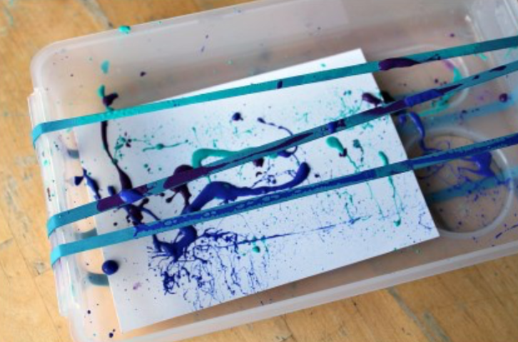 messy process art project idea for kids