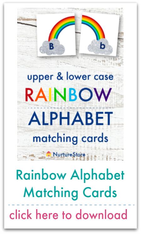 rainbow alphabet matching cards