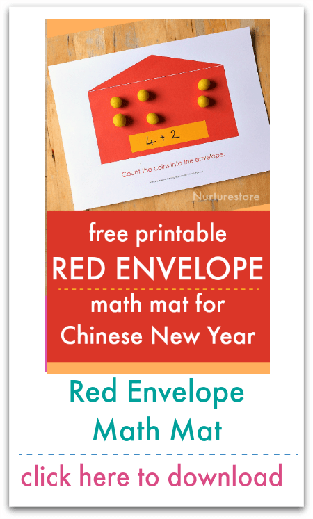 red envelope counting mat