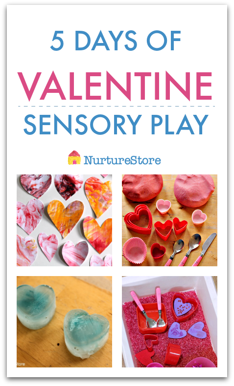 Five days of Valentine sensory play activities week plan