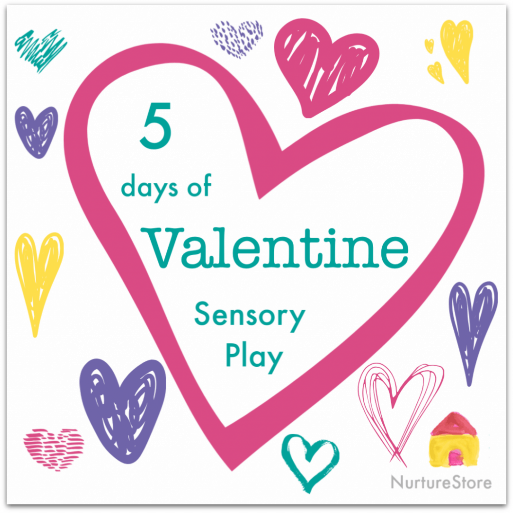 A week of Valentine sensory play activities, Valentine theme activities for kids, Valentine unit ideas