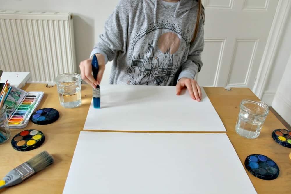 wet on wet watercolour painting technique