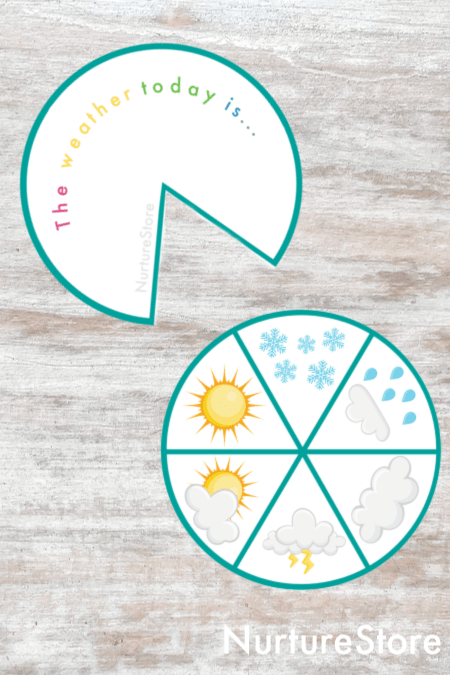 how to make a weather spinner printable