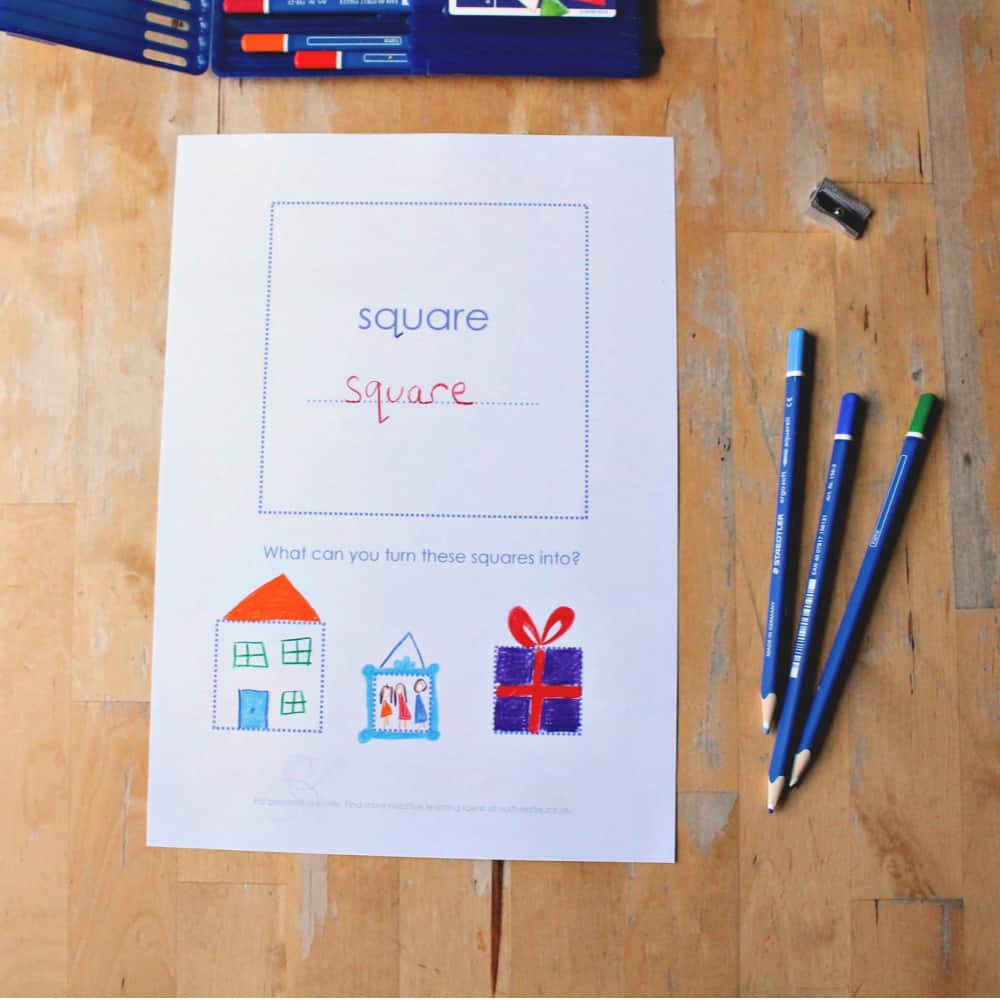 shape practice printables