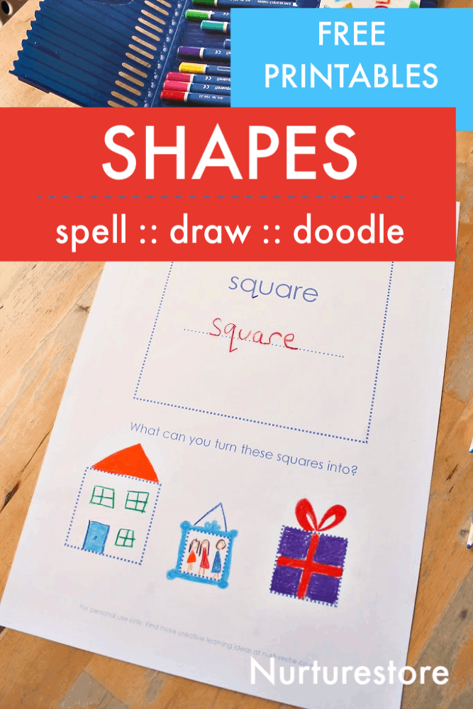 Shape tracing and drawing printables - NurtureStore