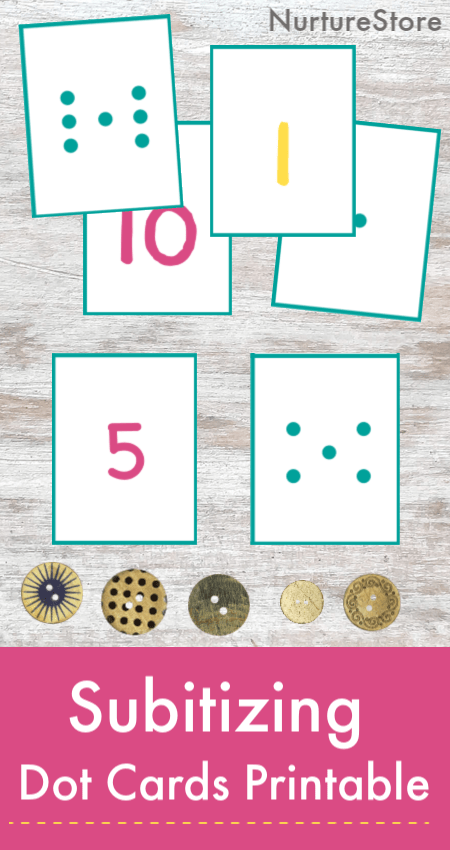 free printable subitizing dot cards printable, visual number game