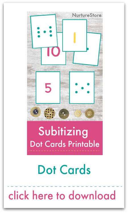 subitizing dot cards printable