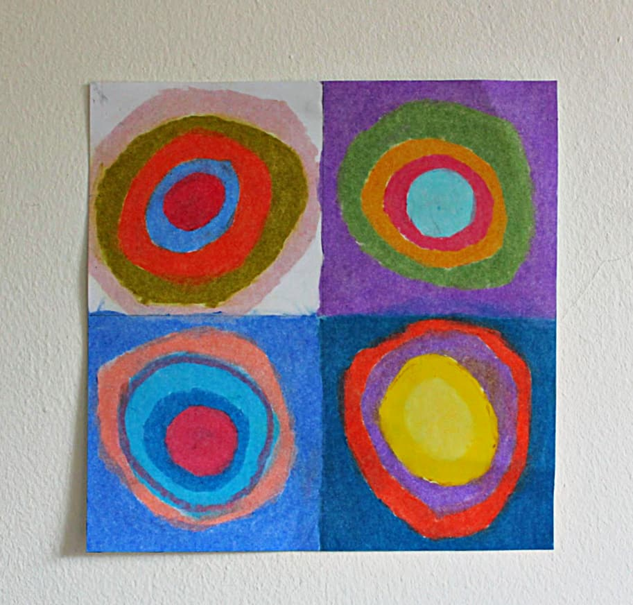 Kandinsky circles art lesson for children - NurtureStore