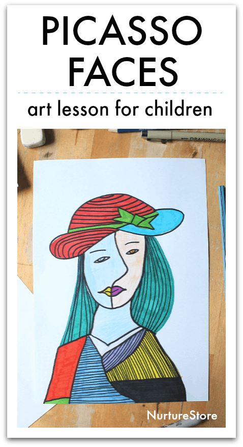 pablo picasso faces art lesson for children