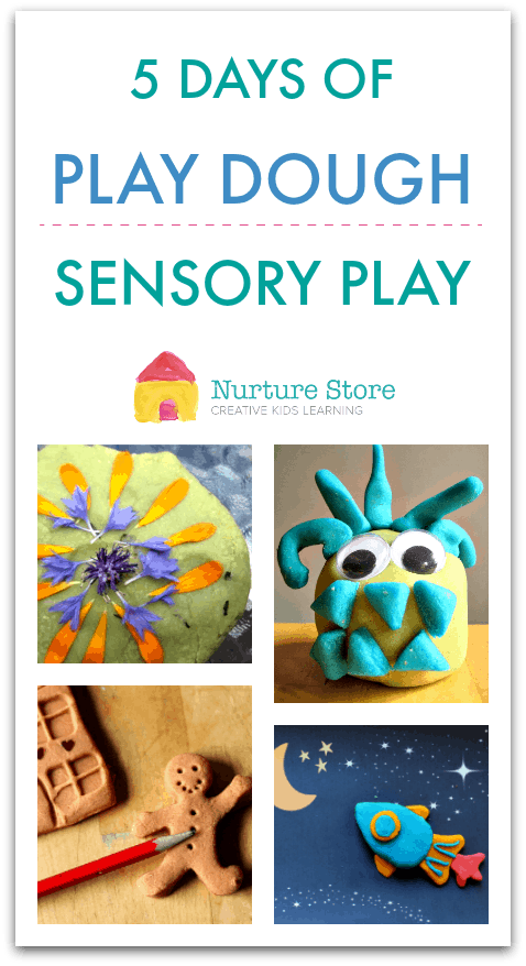 play dough sensory play week ideas, themed play dough week, play dough activies