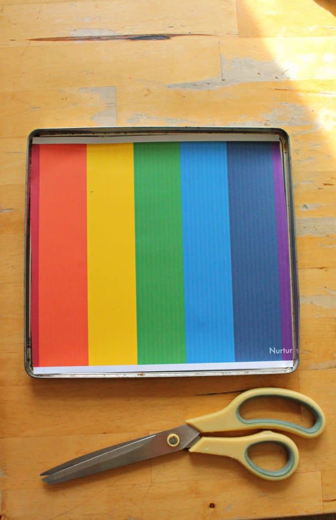 rainbow writing printable