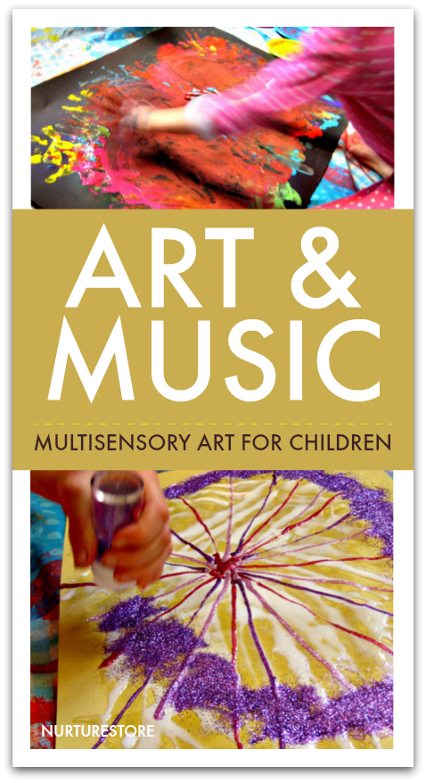 Art and music activities for children, music art project for kids