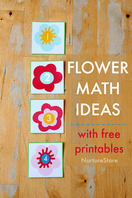 flower math activities, flower number free printable