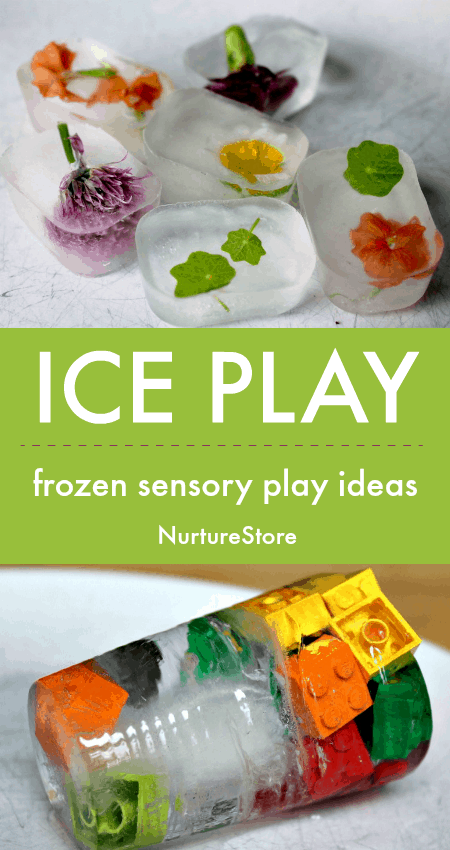 frozen ice sensory play ideas