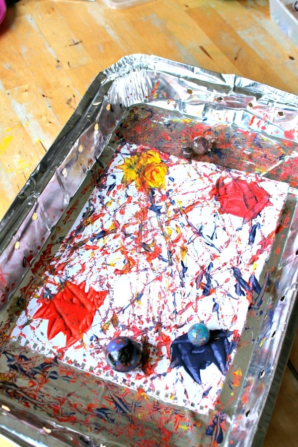 Art And Science Lesson Gravity Painting Project