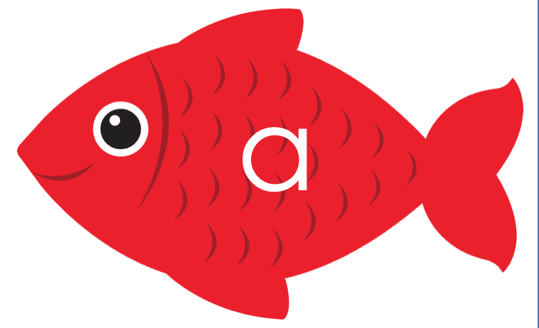 image relating to Printable Fish Pictures referred to as Printable fish alphabet for beneath the sea gadget - NurtureStore
