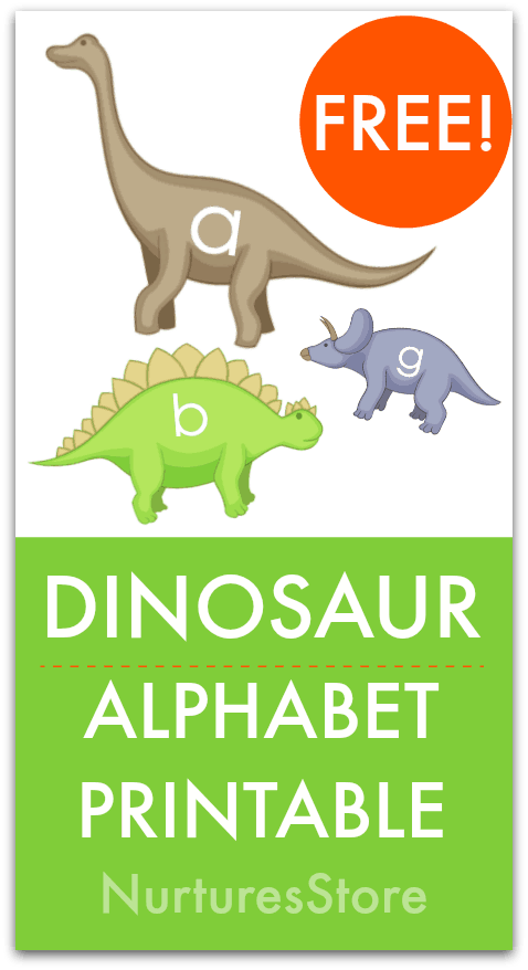 picture about Printable Dinosaur referred to as Dinosaur alphabet totally free printable - NurtureStore