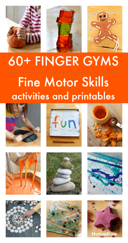 finger gym fine motor skills activities centers