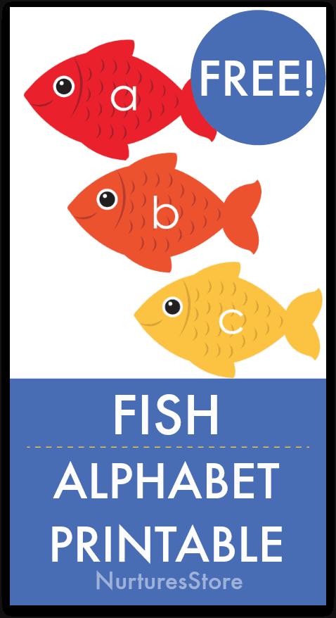 photograph regarding Printable Fish Picture identify Printable fish alphabet for less than the sea machine - NurtureStore