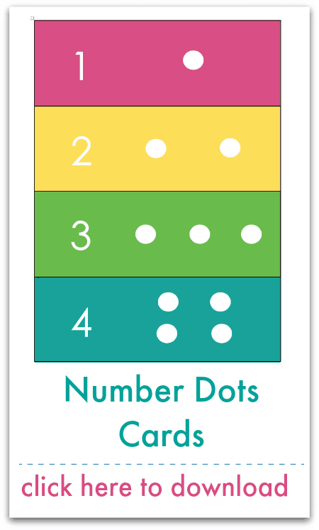 number dots cards
