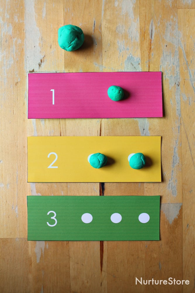 printable number dots cards for loose parts math