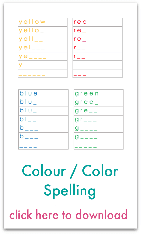 colour spelling