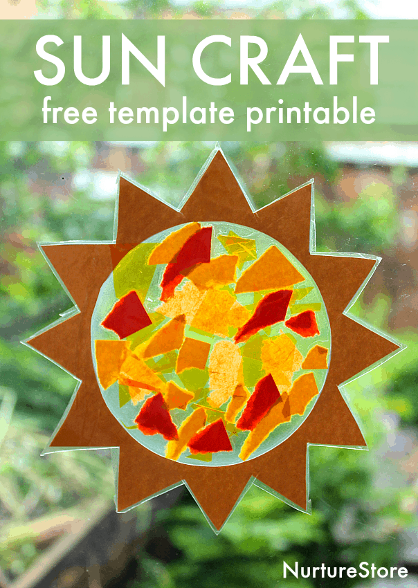 photo relating to Printable Sun Template named Sun sunlight catcher uncomplicated solstice craft - with sunshine template