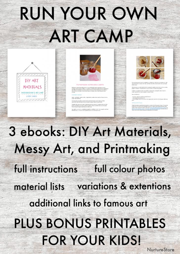 Fun and easy printmaking art lessons for children - NurtureStore