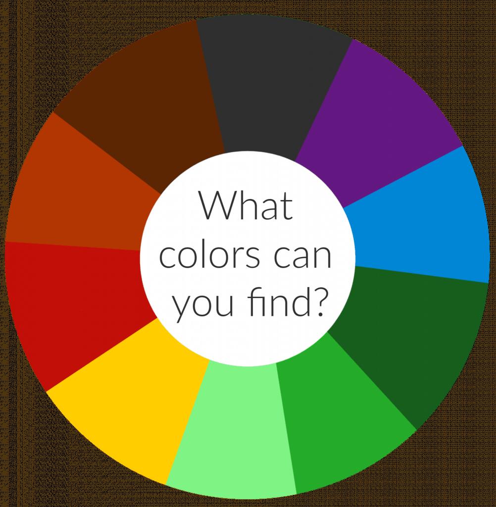 Nature Colour Wheel Activity With Printable Colour Wheel Nurturestore