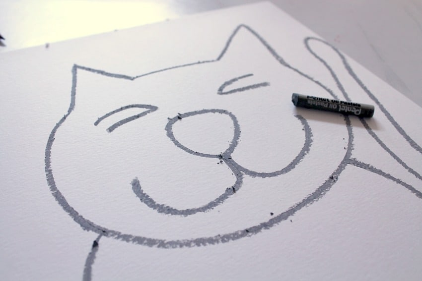 easy cats drawings