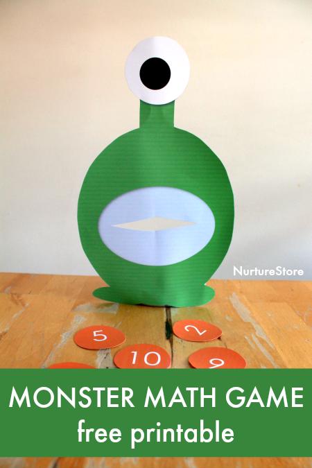 photo relating to Printable Monster known as Printable monster math sport - NurtureStore