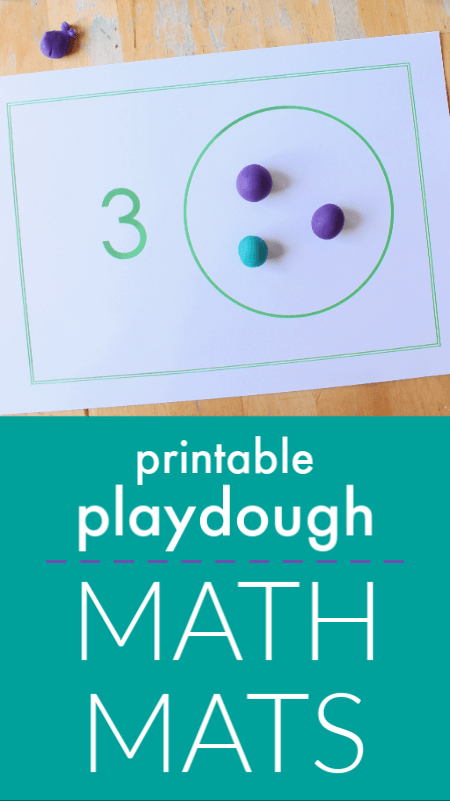 photograph relating to Printable Mats referred to as Perform dough math mats printable for counting - NurtureStore