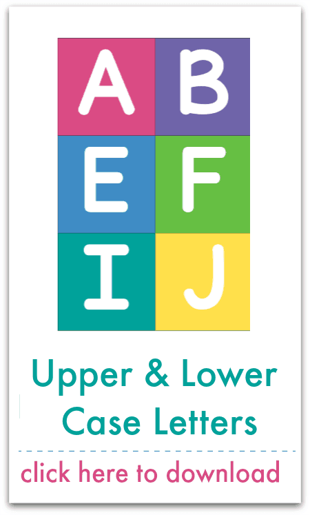 upper and lower case letters