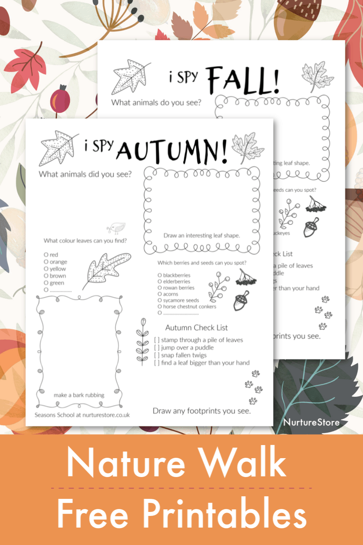 Autumn Nature Walk Treasure Hunt Printable Nurturestore
