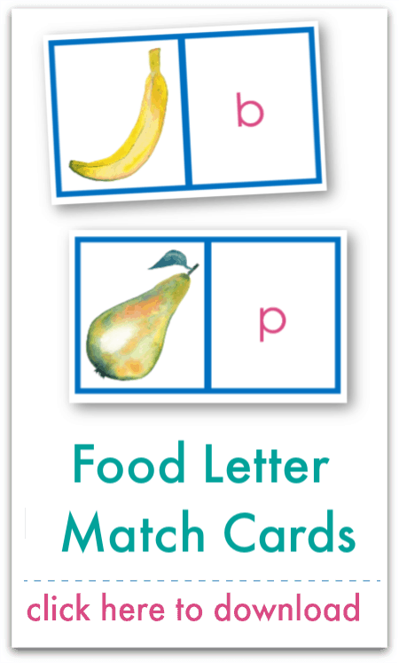 food letter match cards